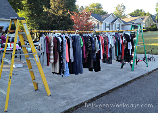 clothes rack ideas for garage sale - 8 Tips for a Profitable Yard Sale
