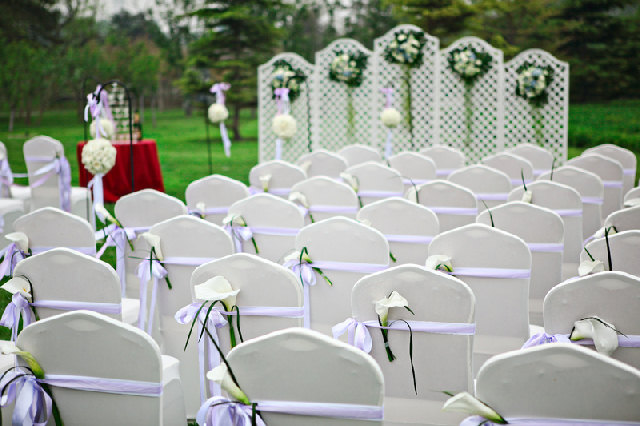 Wedding venue ideas on a budget inspirational for Cheap elegant wedding decorations