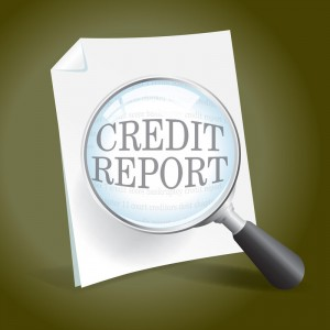 credit report magnifying glass