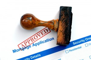 mortgage application approved stamp