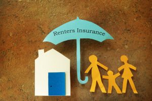 renters insurance paper cutout family umbrella