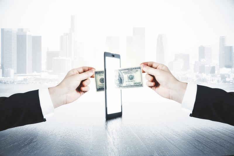 Sending Money Tablet