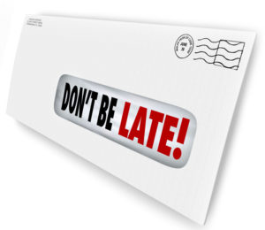 dont be late envelope