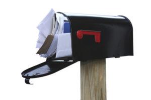 overstuffed mailbox junk mail