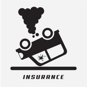 overturned car image insurance