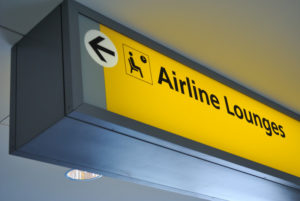 airline lounges sign