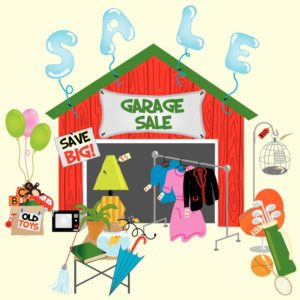 garage sale graphic