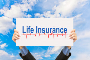 life insurance sign sky