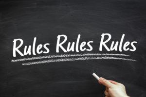 rules rules rules chalkboard