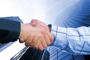 business handshake two men