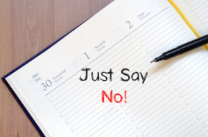 just say no notebook