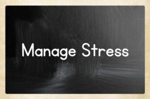 manage stress chalkboard