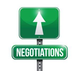negotiations road sign