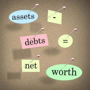 assets minus debts equal net worth